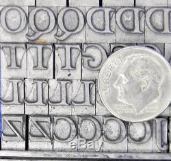 Alphabets Metal Letterpress Print Type ATF 24pt Goudytype + Swash ML37 7#
