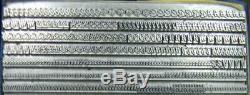Alphabets Metal Letterpress Print Type Import 14pt Mystery Script MM21 6#