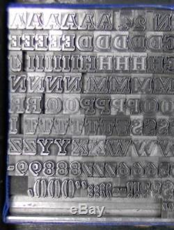 Alphabets Metal Letterpress Print Type Import Bauer 24pt Beton Open ML85 4#