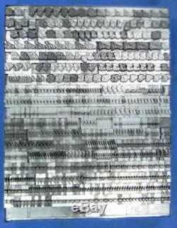 Alphabets Metal Letterpress Print Type Import Berthold 24pt Juliet ML53 8#