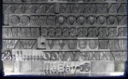Alphabets Metal Letterpress Print Type Import SB 30pt Fry's Ornamented ML80 5#