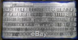 Alphabets Metal Letterpress Print Type Import Stempel 24pt SAPPHIRE ML40 5#