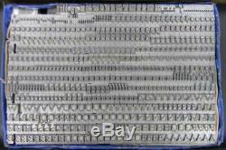 Alphabets Metal Letterpress Printing Type 18pt Goudy Open MN24 7#