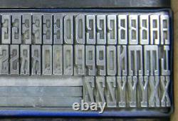 Alphabets Metal Letterpress Printing Type 36pt Newport Monograms MN49 3#