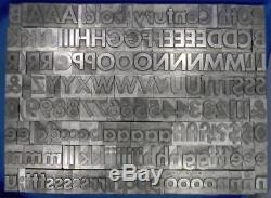 Alphabets Metal Letterpress Type 72pt Twentieth 20th Century Bold ML66 18#