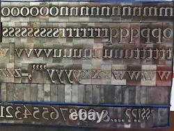 Alphabets Metal Letterpress Type Poster Headline 72pt Garamond Bold MM76 26#