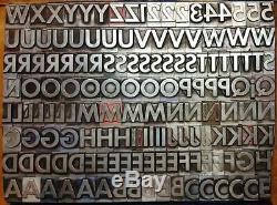 Alphabets Metal Letterpress Type TITLE 72pt Alternate Gothic BOLD MM73 30#