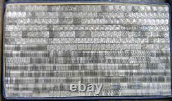 Alphabets Vintage Metal Letterpress Print Type 14pt Piranesi Italic MN58 4#