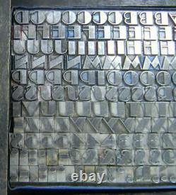 Alphabets Vintage Metal Letterpress Print Type 18pt Broadway Cond MN50 4#