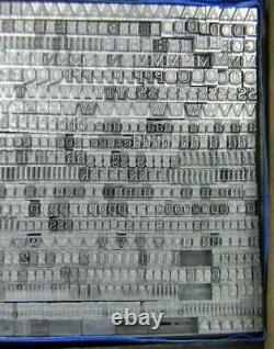 Alphabets Vintage Metal Letterpress Type 12pt Melior Large Face MN39 5#