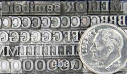 Alphabets Vintage Metal Letterpress Type 14pt Melior Semi Bold MN06 6#