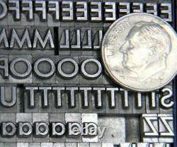 Alphabets Vintage Metal Letterpress Type 18pt 20th Century Medium MN56 6#