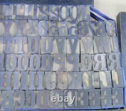 Alphabets WOOD Letterpress Print Type 5line 15/16 Ionic Condensed MW17 2
