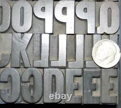 Alphabets WOOD Letterpress Print Type PAGE 5line 15/16 Gothic Bold MW19 2