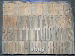 Alphabets WOOD Letterpress Type Hamilton 12line 2 Gothic Ex Cond MW21