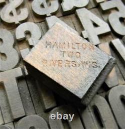 Alphabets WOOD Letterpress Type Hamilton 4line 5/8 Gothic Bold MW20 2#