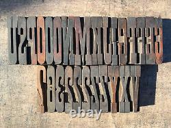 Antique American Letterpress Wood Type 18 Pica