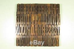 Antique Belgian Wood Type Letterpress Blocks 2-1/2 inch Uppercase CAPS