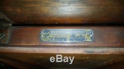 Antique Hamilton Walnut Recyling Bin 24 x 12 1900 Industrial Print Shop Rare