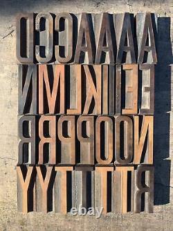 Antique Hamilton Wood Type Letterpress 19 Pica Vandercook Press