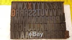 Antique Letterpress Gothic San Serif Wood Type sorts 10 line (1-2/3)q90