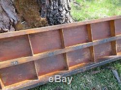 Antique Letterpress Lead & Slug Case Shadow Box c83