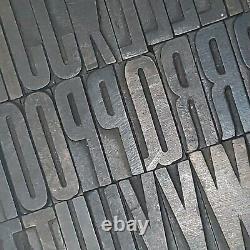 Antique Letterpress Wood Type Printing Blocks Alphabet Letters 1 5/8 Tall lot1