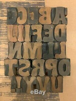 Antique Letterpress Wood Type Tuscan 14 pica. 928 Vandercook Press