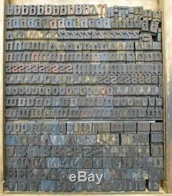 Antique Letterpress wood type alphabet 22mm printing blocks wooden letters Adana