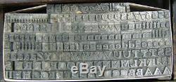 Antique Metal Letterpress Printing Type 24pt Buffalo D6 7#