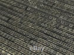 Antique Shaded 12 pt Letterpress Type Vintage Metal Printing Sorts Font