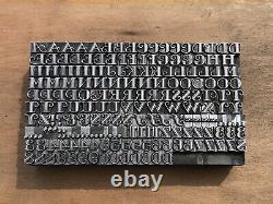 Antique VTG 18pt Fancy Ornate Gallia Letterpress Print Type A-Z Letter # Set