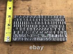Antique VTG 24 Fancy Republic Gallia Letterpress Print Type A-Z Letter # Set