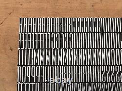 Antique VTG 36pt Art Deco Empire Thin Line Letterpress Print Type Letter # Set