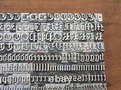 Antique VTG 36pt Fancy Cloister Black Letterpress Print Type A-Z Letters #s Set