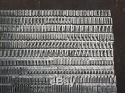 Antique VTG Art Deco 18pt Onyx Letterpress Print Type Alphabet Complete Set