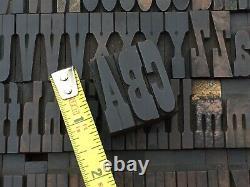 Antique VTG Hamilton Clarendon Wood Letterpress Print Type Block Letter Set