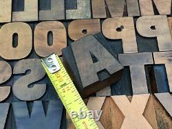 Antique VTG Hamilton Wood Letterpress Print Type Block A-Z Letters #s Comp Set