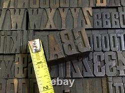 Antique VTG Page & Co Wood Letterpress Print Type Alphabet Letter #s Set (Part)