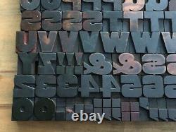 Antique VTG Wood Letterpress Print Type Block A-Z Letters Numbers Comp Set