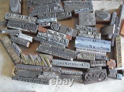 BIG Lot of Vintage Wood Letterpress Print Blocks Advertising Images and More #2