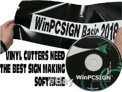 BRAND New WinPCSIGN BASIC 2018 software, EASY TO USE 600 vinyl cutter drivers