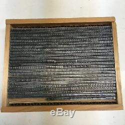 Bodoni Italic 8 pt Letterpress Type Vintage Metal Lead Printing Sorts Font