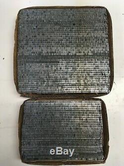 Bookman 10 pt Letterpress Type Metal Lead Printing Sorts Font Fonts Vintage