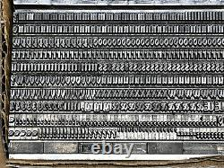 Bradley 10 pt. Letterpress Metal type Printers Type