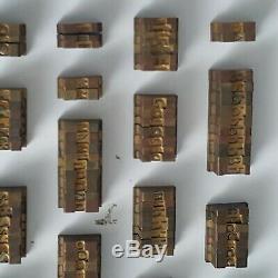 Brass Alphabet Letter Block Type Point Letterpress A-Z Bookbinding Book Print