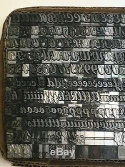 Broad Stroke Cursive 30 pt Letterpress Type Printer Metal Lead Printing Sorts
