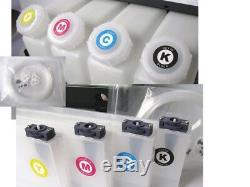 Bulk Ink System-4 Bottles, 8 Cartridges for Mutoh VJ-1604 Roland XR-640 XF-640