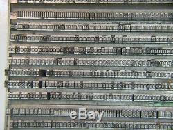 Century 10 pt. Letterpress Metal type Printers Type LARGE FONT