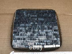 Century 18 pt. Letterpress Metal type Printers Type